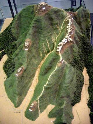 小谷城趾模型